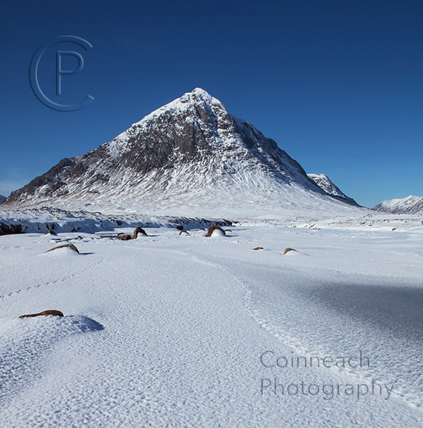 image of Buchaille Etive Mhor in winter